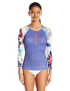 Roxy Women's Bliss Long Sleeve Rash Guard *** Want additional info? Click on the image.