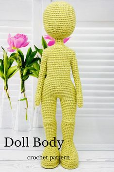 I will show you how to make this beautiful amigurumi doll body in my step-by-step crochet pattern tutorial.This crochet doll pattern is suitable for the advanced beginner or intermediate crocheter.   #crochetdollpattern#amigurumidollpattern#crochetbodypattern Crochet Animal Patterns, Stuffed Animal Patterns, Amigurumi Patterns, Amigurumi Doll, Doll Patterns, Crochet Gifts, Cute Crochet, Crochet Hooks, Crochet Things