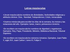... ¿Se escriben con mayúscula o minúscula?. http://slideplayer.es/slide/5421956/