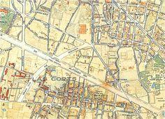 """Plànol de Barcelona 1929. 1: 10.000, en """"Barcelona 1714 - 1940: 10 plànols històrics"""". Barcelona. Lunwerg, 1994. Edició a càrrec de: La ciutat de les ciutats, Centre de Cultura Contemporània de Barcelona, amb la col·laboración de l'Institut Municipal d'Història."""