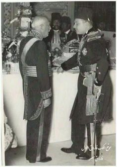 King Farouk and the emperor of Iran