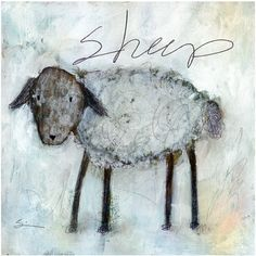 PRINT - Sheep by Carla Sonheim