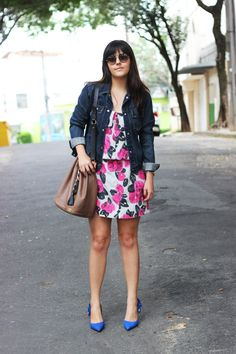 bolsa saco bucket bag Floral animale maria bonita extra jaqueta jeans scarpin azul klein santa lolla prada adô