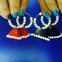 quilling danglers..... Meraki, Quilling, Drop Earrings, Photo And Video, Instagram, Jewelry, Bedspreads, Jewlery, Bijoux