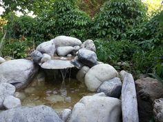 Love my new #water feture a rock #waterfall