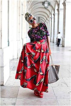 ankara heels and African print Love this styling