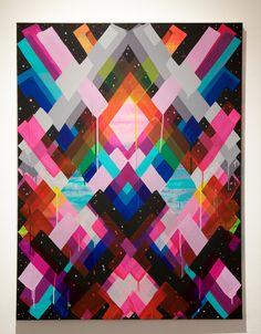 Maya Hayuk, 'Chem Trails #143,' 2014, Jonathan LeVine Gallery