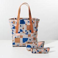 Shapes Grey + Royal Zip Bags | Unison