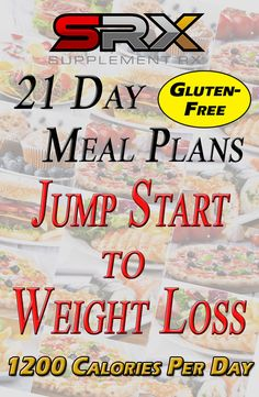 Want to lose weight but not sure what to eat? This easy-to-follow 21 Day Meal Plan provides a Jump Start to Your Weight Loss. Designed by a registered dietitian, this outline is geared for those on a gluten-free 1200 Calories Per Day goal.