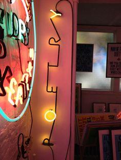 'Poetry Oy' Neon, 2013 by artist George Horner