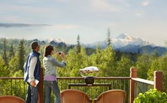 Lunch with a view of Mt. McKinley @Mt. McKinley Princess Wilderness Lodge, Aug 2, 2013.