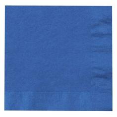 True Blue (Blue) Lunch Napkins (50) from BirthdayExpress.com