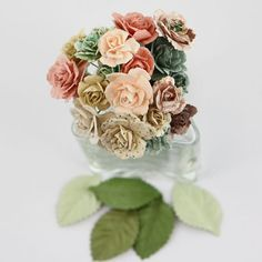 Charme Rose Fairy Belle Mulberry Paper Flowers by Prima Marketing, $4.99