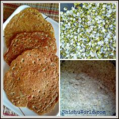 Moong (Green Gram) Sprouts Dosa / Sprouts Chilla/ Cheela