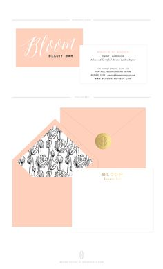 Custom Brand for Bloom Beauty Bar by Erin Haines Design Co. // www.erinhaines.com