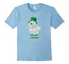 Cute St.Patrick's Day Maltese Dog Lovers T-shirts Kiss me I'm Irish ...