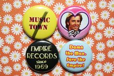 Empire Records One Inch Pinback Button Set by ThereWillBeButtons