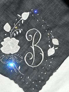 Vintage Bridal Handkerchief with monogram B in by ArtHouseBridal, $24.00