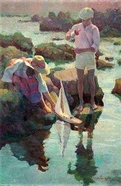 "My newest Don Hatfield work of art ""Boat Launching""  Love it!!!!!!!"