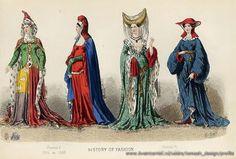 Костюмы средневековье раннее иллюстрации картинки