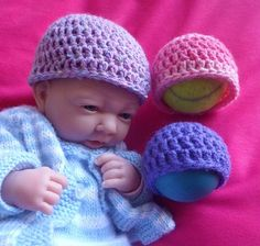 Ravelry: Project Gallery for Simple Preemie Beanie - Free Charity crochet pattern by Darling Designs