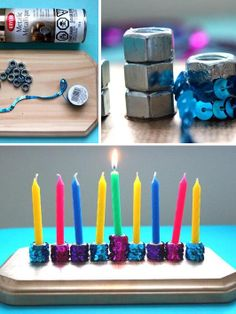 Celebrate Hanukkah with this dazzling menorah that's so easy it's nothing short of a miracle!
