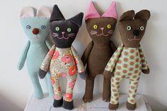 Brown needlecord cat. $24.00, via Etsy.