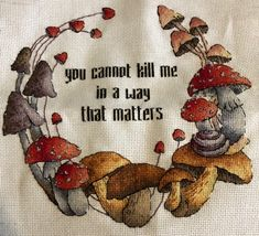 "Cross stitch design ""Autumn fantasy"" Designer – Sichkar Svetlana Artist – Olga Bobko The size of the embroidery: crosses (for canvas aida 14 is Yennefer Of Vengerberg, Wow Art, You Draw, The Villain, Looks Cool, Art Inspo, Stuffed Mushrooms, At Least, Cross Stitch"