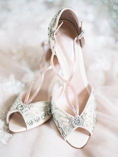 White heels for brid