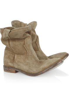 Isabel Marant|Jenny brushed-suede ankle boots|NET-A-PORTER.COM- Add to the list of MUST haves!