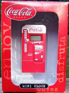 Coca Cola Coke Collectible Mini Clock Coca-Cola