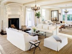 How to: white and neutral living rooms - Vogue Living - Liked @ www.homescapes-sd.com #homescapes #staging #whitelivingroom
