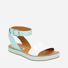 616898f5a6e91c Romantic Moon DuckEgg Blue Combi - Clarks® Sandals for Women - Clarks® Shoes