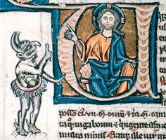 Satan and Jesus debating Bodleian, MS Lat bib e 007