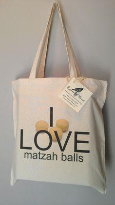 Jewish Chanukkah hanukkah Yiddish Passover I Love Matzah Balls Tote Bag Matzo Balls Jewish Humor