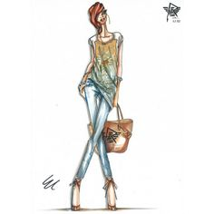 Celebrity Street Style - Galleries found on Polyvore featuring sketches, backgrounds and illustrations