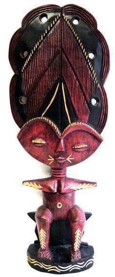 Traditionelle Afrikanische Kunst Ashanti Doll bei MAKEBA African Art Galerie & Shop, Rosenhof 2-4, Chemnitz  oder makeba.de/