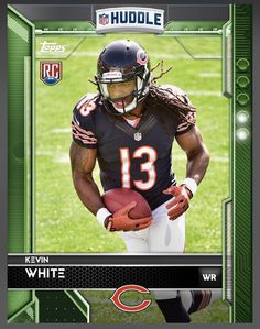 Kevin White (Rookie) Chicago Bears Green Parallel Card 2016 Topps HUDDLE
