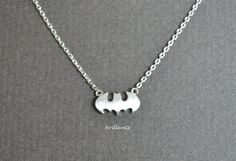 Hey, I found this really awesome Etsy listing at https://www.etsy.com/listing/190067794/batman-necklace-in-silver-everyday