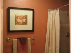earth tone decorating ideas | Warm Earth Tones Master Bath, My husband remodeled our master bathroom ...