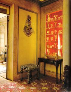 One of my very favorite things to pore over is the catalogue from the Duke and Duchess of Windsor auction that Sotheby's organized back in . Windsor House, Wallis Simpson, Famous Pictures, Map Painting, Yellow Interior, Floor Ceiling, Interior Decorating, Interior Design, Great Hotel