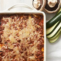 Zucchini-Noodle Lasagna From Better Homes and Gardens, ideas and improvement projects for your home and garden plus recipes and entertaining ideas.
