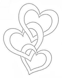 drei Herzen ineinander Verschlungen Vorlage