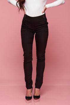 Comanda online, Pantaloni Fofy Royal Look Brown. Articole masurate, calitate garantata! Special Events, Capri Pants, Black Jeans, Fashion, Moda, Capri Trousers, Fashion Styles, Black Denim Jeans, Fashion Illustrations