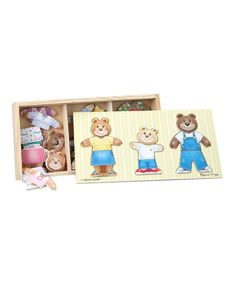 Look at this Bear Family Dress-Up Puzzle on #zulily today!