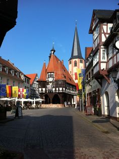 Townhall of Michestadt, Germany - We have a beautiful old mirror from the brewery in this town.