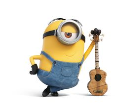 Minion with guitar Amor Minions, Despicable Minions, Cute Minions, Minions Quotes, Image Minions, Minions Images, Disney Wallpaper, Cartoon Wallpaper, Minion Wallpaper