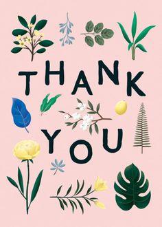 Botanical Thank You Pink