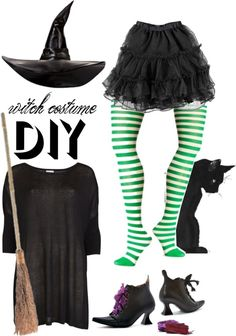 """diy halloween witch costume"" by maria-maldonado ❤ liked on Polyvore"