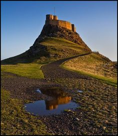 Lindisfarne Castle, Holy Island, Northumberland.    Reached by boat or road causeway at low tide.